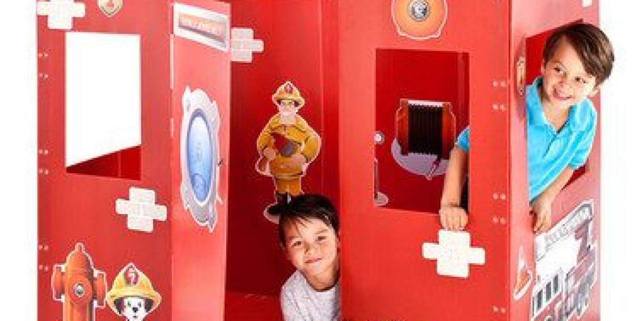 diy playhouse impraboard karton plastik