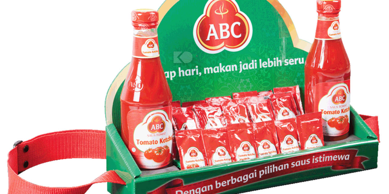 asongan display - rak asongan saos abc